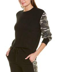 Monrow Cashmere-blend Sweatshirt - Black