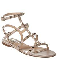 Valentino Garavani Valentino Garavani 'rockstud' Sandals - Pink
