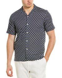 Club Monaco Rectangle Geo Shirt - Blue