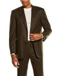Canali 2pc Wool Suit - Brown
