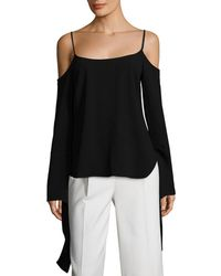 BCBGMAXAZRIA Cold-shoulder Bell Sleeve Top - Black