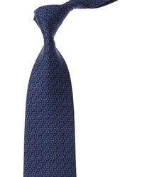 Ferragamo Blue Penguins Silk Tie