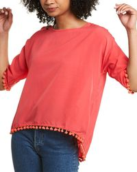 French Connection Pom Pom Top - Pink