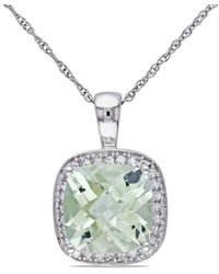 Rina Limor 10k 2.75 Ct. Tw. Diamond & Green Amethyst Pendant Necklace - Metallic