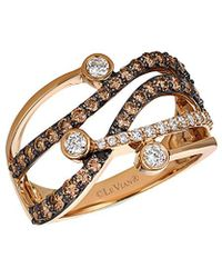 Le Vian - ® Chocolatier® 14k Rose Gold 1.00 Ct. Tw. White & Brown Diamond Ring - Lyst