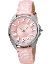 Just Cavalli Women's Logo Watch - Pink