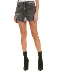 Hudson Jeans The Viper Mini Skirt - Black
