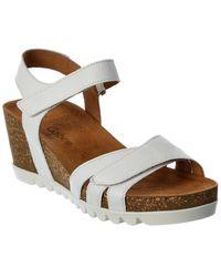 Gabor Leather Wedge Sandal - White