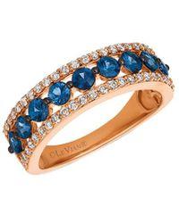 Le Vian ? 14k Rose Gold 1.43 Ct. Tw. Diamond & Sapphire Ring - Blue