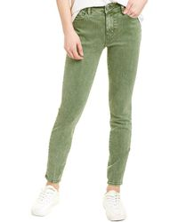 WASH LAB Elizabeth Washed Fern Skinny Leg Jean - Green