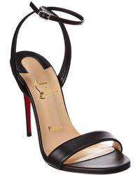 Christian Louboutin Loubigirl 100 Leather Sandal - Black