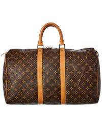 Louis Vuitton Monogram Canvas Keepall 45 - Brown