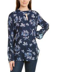 Lyssé Floral Tunic Top - Blue
