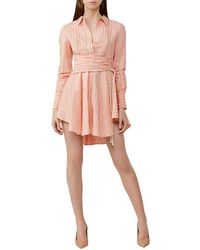 Significant Other Orla Linen-blend Dress - Pink