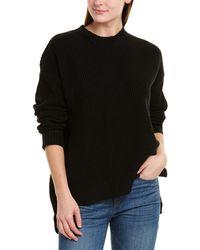 BCBGMAXAZRIA Mock Neck Pullover - Black