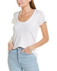 Rag & Bone The Slub U Neck Tee Slim Fit T-shirt - White