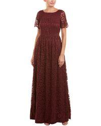 Paper Crown Lace Maxi Dress - Purple