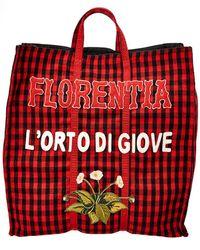 Gucci Florenta L'orto Di Giove Tote - Red