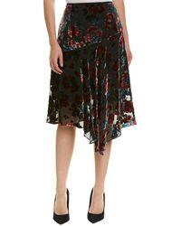 Nanette Lepore Silk-blend Skirt - Black