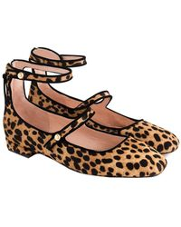 J.Crew Poppy Haircalf Ballet Flat - Brown