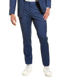 Theory Mayer Lombard Wool Suit Pant - Blue
