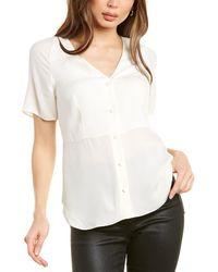 Theory - Vest Silk Shirt - Lyst