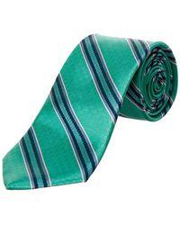 Ted Baker Parque Stripe Silk Tie - Blue