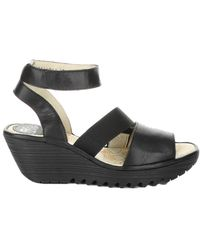 Fly London Yode Leather Sandal - Black