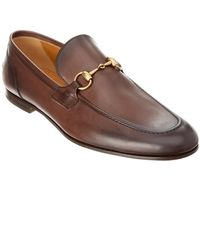 Gucci Jordaan Leather Loafer - Brown
