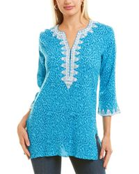 Sulu Collection Crinkle Tunic - Blue
