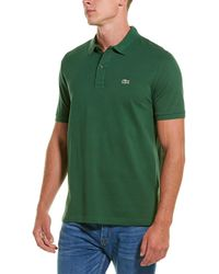 Lacoste Ph4012 Slim Fit Pique Polo - Green