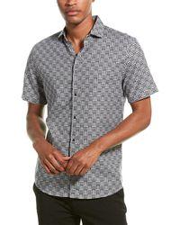 Karl Lagerfeld Basket Print Woven Shirt - Black