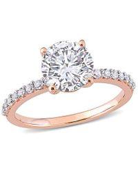 Rina Limor 10k Rose Gold 2.72 Ct. Tw. White Sapphire Engagement Ring - Metallic