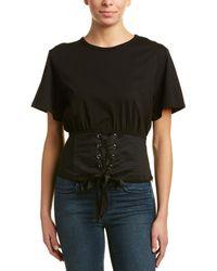 Lea & Viola Corset T-shirt - Black