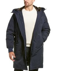 Cole Haan Heavy Tech Down Coat - Blue