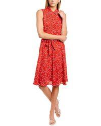 Nanette Lepore Nanette By Nanette Lepore Pintuck Shirtdress - Red