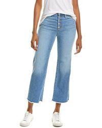 Joe's Jeans Joes Jeans Cherbourg High-rise Wide Leg Crop Jean - Blue
