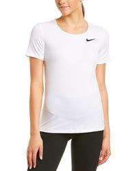 Nike Pro All Over Mesh Top - White