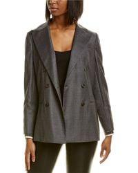 Brunello Cucinelli Wool Blazer - Grey