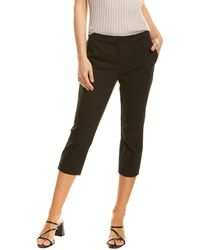 Theory Cropped Tailored Trouser - Black