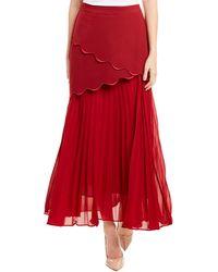 Gracia A-line Skirt - Red