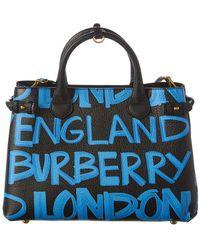 Burberry - Banner Medium Graffiti Leather Tote - Lyst