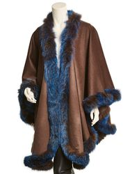 La Fiorentina - Wool & Cashmere-blend Wrap - Lyst