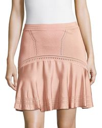 Roberto Cavalli - Knitted A-line Skirt - Lyst