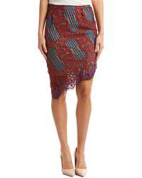 Dance & Marvel - Asymmetric Lace Skirt - Lyst