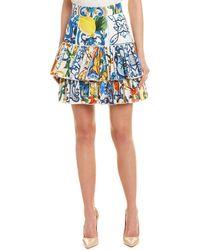 Dolce & Gabbana - Majolica Skirt - Lyst