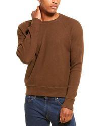 Monrow Brushed Thermal Crewneck Sweatshirt - Brown