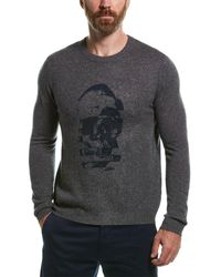 Autumn Cashmere Sliced Skull Wool & Cashmere-blend Sweater - Blue