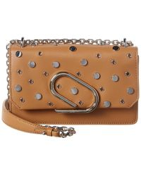 3.1 Phillip Lim Alix Leather Chain Clutch - Brown