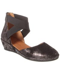 Gentle Souls By Kenneth Cole Noa Suede Wedge Sandal - Brown